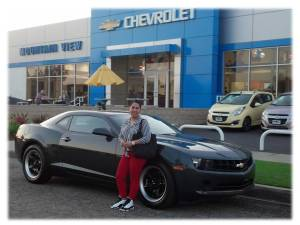 Congratulations! Enjoy your new Camaro. WOW!!! What a ride! Vanessa set a goal in 2010 and today she let me and Mountain View Chevrolet help her get to that goal. Nice!