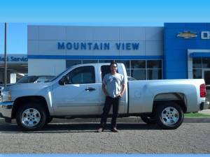 Joseph at Mountain View Chevrolet with Bill Smith